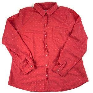 Old Navy Womens Button Down Shirt, Pink XL